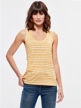 M&Co Stripe pocket vest top