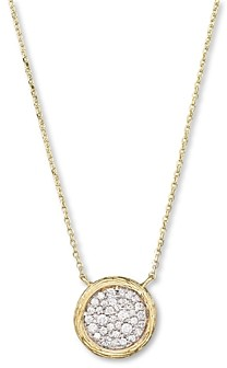 Bloomingdale's Pave Diamond Circle Pendant Necklace in 14K Yellow Gold, .35 ct. t.w. - 100% Exclusive