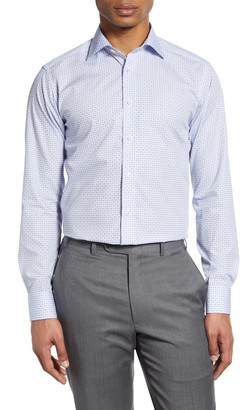 Eton Slim Fit Geometric Dress Shirt