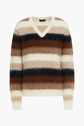 Theory Striped Alpaca-blend Sweater