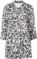 Joie leopard print coat - women - Cotton/Linen/Flax - S