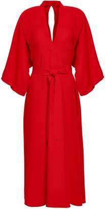 Tome Belted Crepe Midi Dress