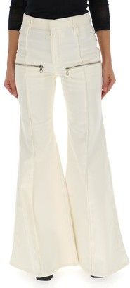 Chloé Flared Front Zip Pants