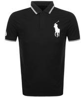 Ralph Lauren Tipped Polo T Shirt Black