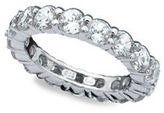 Crislu Brilliant Eternity Handset Sterling Silver Classic Ring