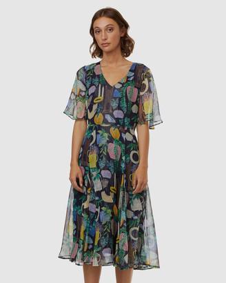gorman Leafy Library Dress