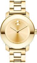 Movado Women's Swiss Bold Gold-Tone Stainless Steel Bracelet Watch 38mm 3600085
