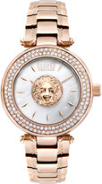 Versus S64100016 Brick Lane IP rose-gold and mother-of-pearl watch
