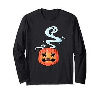 Halloween Trick or Treat Jack-O-Lantern Ghost Costume Shirt Long Sleeve T-Shirt