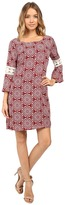 Christin Michaels Lexington Crochet Sleeve Dress
