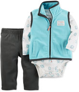 Carter's 3-Pc. Vest, Polar Bear-Print Bodysuit & Pants Set, Baby Boys (0-24 months)