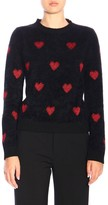 RED Valentino Sweater Pullover With Maxi Hearts In Lurex Jacquard