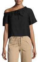 A.L.C. Ryland One-Shoulder Top, Black