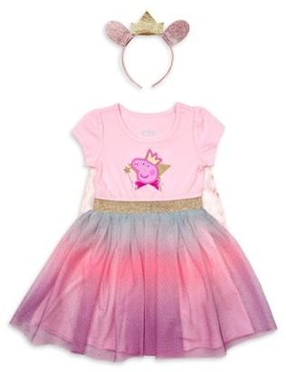Peppa Pig Toddler Girls Roleplay Tutu Dress With Headband, 2pc Set (2T-5T)