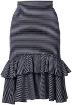 Tome ruffled striped skirt