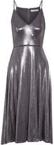 Halston Lamé Midi Dress - Gunmetal