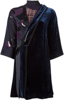 3.1 Phillip Lim velvet kimono dress - women - Silk/Cupro/Viscose - 2