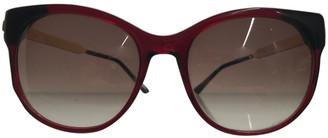 Thierry Lasry Burgundy Plastic Sunglasses