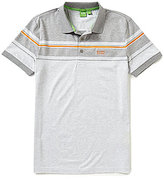 HUGO BOSS BOSS Green Paule 5 Slim-Fit Mini-Stripe Jacquard Short-Sleeve Polo Shirt