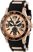 Invicta Men's 12143 Specialty Chronograph Rose Tone Dial Black Polyurethane Watch