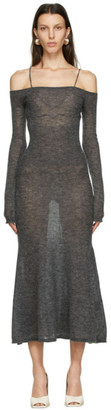 Jacquemus Grey Mohair La Robe Maille Lauris Long Dress