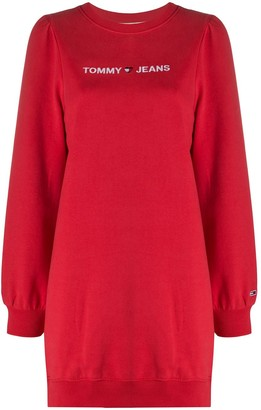 Tommy Jeans Logo-Embroidered Sweatshirt Dress
