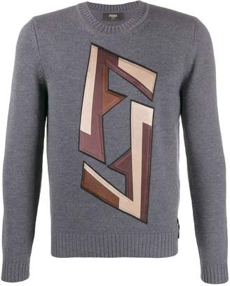 Fendi graphic logo jumper