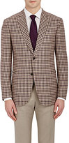 Battistoni BATTISTONI MEN'S CHECKED TWO-BUTTON SPORTCOAT-TAN SIZE 44 L