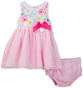 Juicy Couture Floral Top Dress & Bloomer Set (Baby Girls 0-9M)