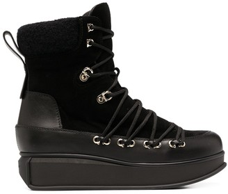 Salvatore Ferragamo Lace-Up Platform Boots