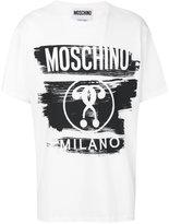 Moschino negative style print logo t-shirt - men - Cotton - 46