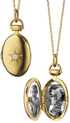 Monica Rich Kosann Petite Oval Locket with Center Diamond Star