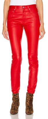 Saint Laurent Skinny Pant in Red | FWRD