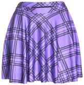 Upgraded Women's Digital Print Stretchy Plaid Pleated Mini Skirts by TOFLY Plus Size XXL