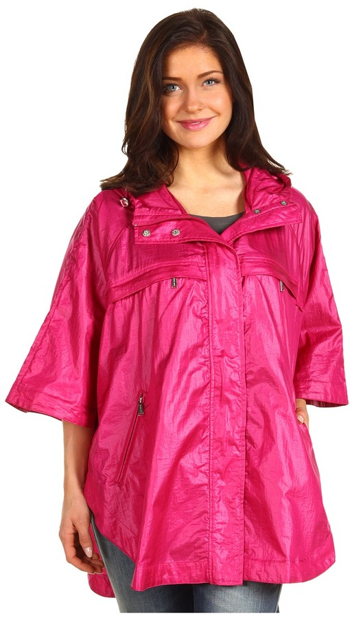 MICHAEL Michael Kors Nylon Poncho (Pink) - Apparel