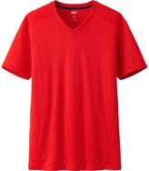Uniqlo Men Dry Ex V Neck Short Sleeve T-Shirt