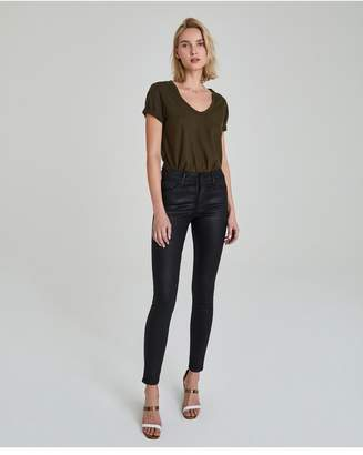 AG Jeans The Farrah Skinny - Leatherette Lt-Super Black