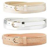 Charlotte Russe Metallic & Glitter Belts - 3 Pack