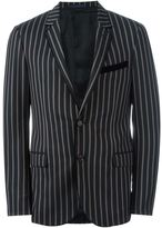 Lanvin striped blazer - men - Cotton/Cupro/Wool - 50