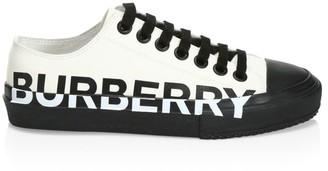 Burberry Larkhall Logo Canvas Sneakers