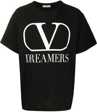 Valentino VLOGO DREAMERS print T-shirt