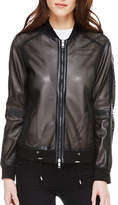 Sosken Cara Perforated Faux Leather Bomber Jacket