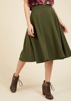 ModCloth Bugle Joy Midi Skirt in Olive in 3X
