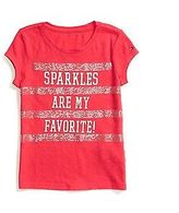 Tommy Hilfiger Big Girl's Sparkles Graphic Tee