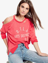 Lucky Brand Arts District Distressed Pullover