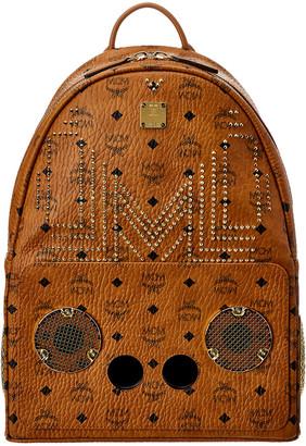 MCM X Wizpak Studded Visetos Backpack