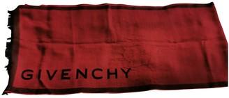 Givenchy Burgundy Wool Scarves & pocket squares