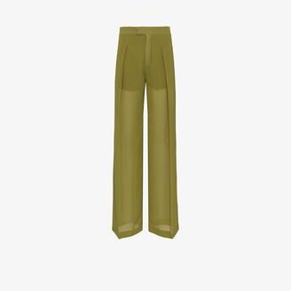 Chloé Sheer High Waist Silk Trousers