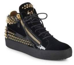 Giuseppe Zanotti Studded Mid-Top Platform Sneakers