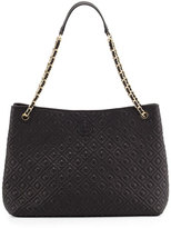 Tory Burch Marion Chain-Strap Shoulder Slouch Bag, Black